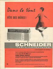Publicité Advertising 1962  SCHNEIDER radio télévision poste extra plat