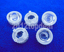 100pcs 90degree led Lens for 1W 3W High Power LED with screw 20mm White holder