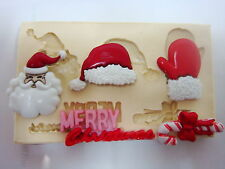 Sugarcraft Mold Mould  for sugarcake,Cupcake, Clay- Christmas #5