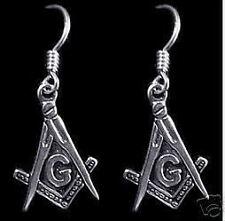 Silver Earrings Jewelry New Masonic Mason Sterling