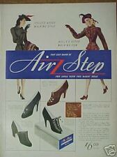 1940 Air Step Womens Shoes Wwii Fashion Hat Style Ad