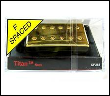 DiMarzio DP258 Titan Guitar Pickup, Neck, F-Spaced, Gold Cover DP258FG
