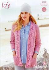 Stylecraft 9192 Knitting Pattern Ladies Cardigans in Stylecraft Life Aran