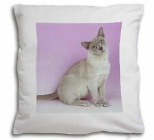 Lilac Burmese Cat Soft Velvet Feel Cushion Cover With Inner Pillow, AC-32-CPW