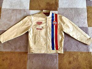 Vintage TAG-Heuer Steve McQueen Style Leather Jacket by Dakota. Firestone - Gulf