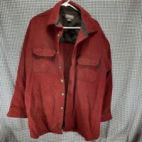 Woolrich Button Front Wool Shirt Jacket Men's Size XL