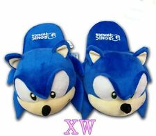 11inch New One Pair The HEDGEHOG Sonic Soft Plush Slipper
