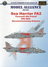 Modello ALLEANZA Decalcomanie BAE SEA HARRIER FA.2 800NAS schema di smantellamento 2004