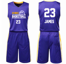 JAMES 23, LOS ANGELES LA - KID YOUTH BASKETBALL JERSEY SET