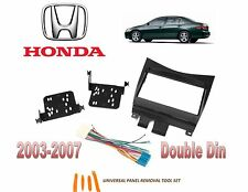 NEW 2003-2007 HONDA ACCORD 2 DIN CAR STEREO INSTALL DASH KIT, WIRE HARNESS