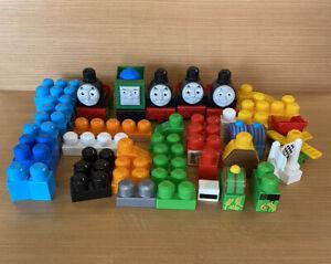 Thomas The Tank Engine Mega Blocks Bundle-62 Pieces In Total-Carriages-Blocks