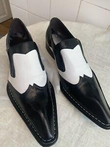 Zota Mens Black And White Dress Shoes Size 44