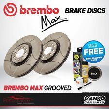 Brembo Max posteriore ventilato ad alto tenore di carbonio Scanalato Dischi Freno a disco COPPIA x2 09.9425.75
