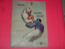 NAVY VS. NOTRE DAME AWAY PROGRAM AT CLEVELAND STADIUM 11-1-1952