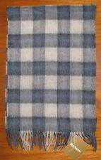 Barbour Gowan Check Lambswool/cashmere scarf Blue/Grey USC0120BL51  1