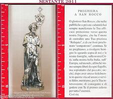 3419 SANTINO HOLY CARD GLORIOSO SAN S. ROCCO FRIGENTO AV PICCOLA PIEGA