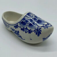 Delft Blue Shoe Holders Ceramic Porcelain Holland Floral DP MF Trinket Dish