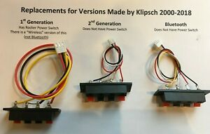 Klipsch Speaker TERMINAL ProMedia 2.1  BLOCK Satellite module Plug 3 Types NEW
