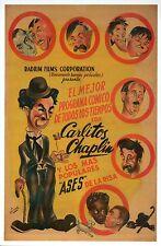 Charlie Chaplin, Movie Film Image from Spain, Laurel & Hardy etc Modern Postcard