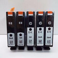 5 PACK NEW GENUINE HP 564 BLACK INK CARTRIDGE (LOOK DESCRIPTION) J100