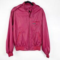 Vintage Members Only Size 40 Red Bomber Flight Jacket Full Zip long sleeve