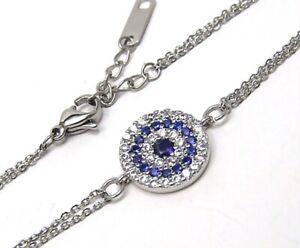 Sapphire color Bracelet Hypoallergenic Surgical Steel Adjustable