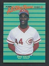 Eric Davis 1988 Fleer All Star Team Card #7; NM-Mint; Cincinnati Reds