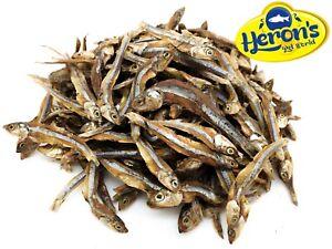 HERONS Dried Whole Sprats Anchovies 100% NATURAL BARF Dog Puppy Fish Treats