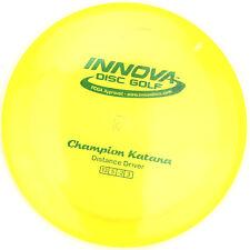 New Yellow Champion Katana Driver 175g Innova Disc Golf Green Sparkle Foil Stamp