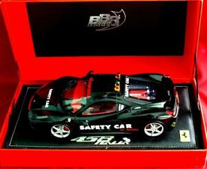 UNIQUE 2009 Black Ferrari 458 F-1 SAFETY CAR L.E.-100 pcs.1/18 by BBR P1813SAF