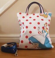 BNWT Cath Kidston Disney Falling Alice in Wonderland Reversible Cross Body Bag