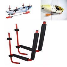 Set of 2 Kayak Wall Mounted Rack Canoe Hanging Frame Ski Snow Board Storage Rack