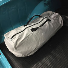 California Car Cover Grey Cotton Zippered Storage Duffel Bag for Car Covers