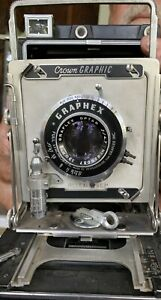 Graflex Crown Graphic 4x5 with135 mm lens Kit Large Format Press Film Camera