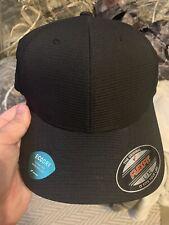 6 FLEXFIT Fitted Blank Black Plain Caps L/XL
