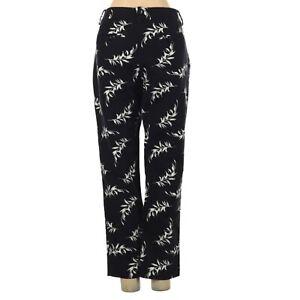 Ladies  Size 4 Merona  Pants  Black W/White Print Classic Stretch