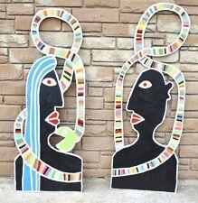 Eden - Huge Pop Folk Painting Listed Texas Artist Paco Felici