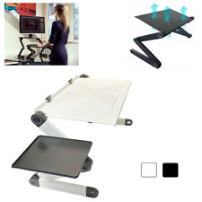 Adjustable Folding Laptop Table Stand Lap Sofa Bed Tray Computer Notebook Desk