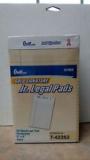 "Case of 10 Quill Gold Signature Jr. Legal Pads,Ivory, 5"" x 8"",12/Pads ~ Free S/H"
