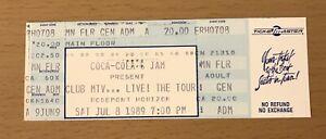 1989 CLUB MTV TOUR CHICAGO CONCERT TICKET STUB MILLI VANILLI PAULA ABDUL TONE LO