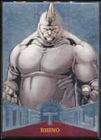 2017 Fleer Ultra Spider-Man Marvel Metal Trading Card #MM5 Rhino
