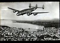 GENEVE (SUISSE) AVION CONSTELLATION de Cie Aérienne T.W.A. en 1957