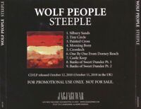 WOLF PEOPLE ~ Steeple~ 2010 US Jagjaguwar label PROMO 9-trk CD album~PSYCHEDELIC