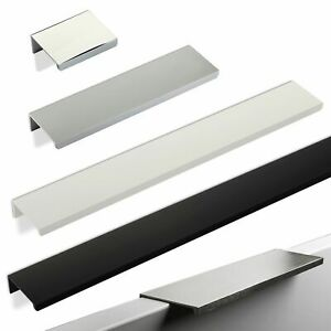 Möbelgriff JANE Aluminium Griffleiste Kantengriff Griffmulde Schubladengriff