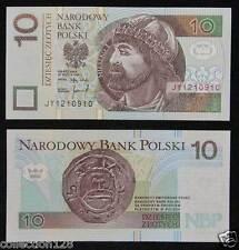 Poland 10 Zlotych Paper Money 1994 UNC
