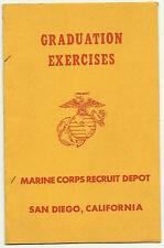 1960 USMC Graduation Exercises Program San Diego Communications Electronics