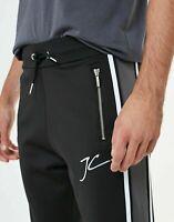 Jameson Carter Mens Joggers Designer Polyester Stripe Tracksuit Bottoms Pants
