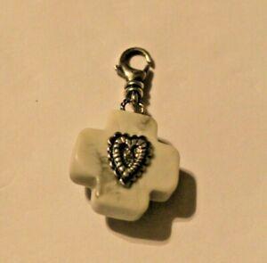 Silpada C2555 Faith & Love Howlite CZ Sterling Silver Charm