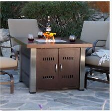 Outdoor Fire Pit Table Propane Gas Patio Heater Fireplace Backyard Furniture NEW