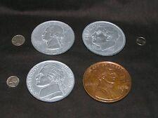 """4 Magnets Coins Penny Nickel Dime Quarter Vintage Bathrm Kitchen Bedroom Den 3"""""""